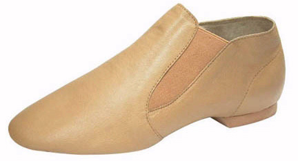 Tan slip on jazz shoe cropped